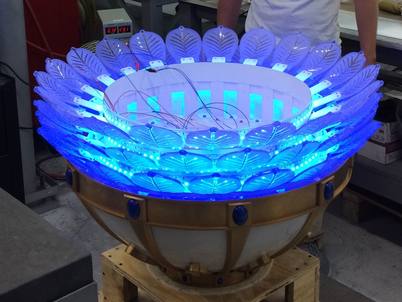 Composite chandelier LED for VIP Aircraft