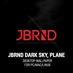 JBRND Logo with Dark Sky, Plane