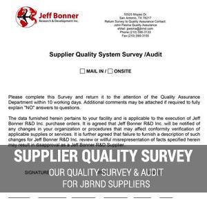 Supplier Quality Survey