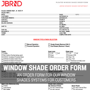 Window Shade Order Form
