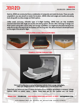 Brochure for VIP Aircraft Beds