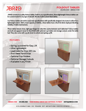 Foldout Table Brochure