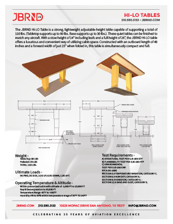 Hi-Lo Table Brochure