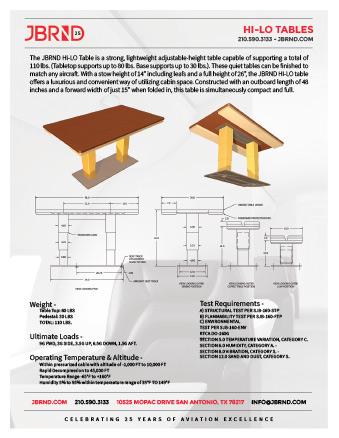 Hi-Lo Table Brochure