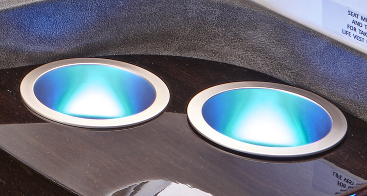 LED Lit Cup Holders for Aircarft