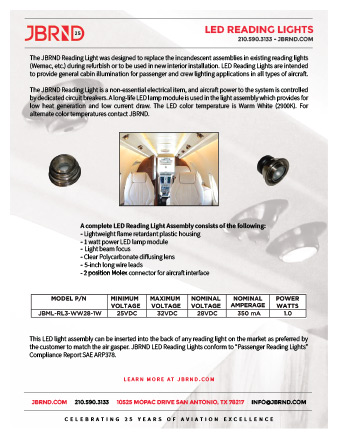 LED Reading Lights Brochure